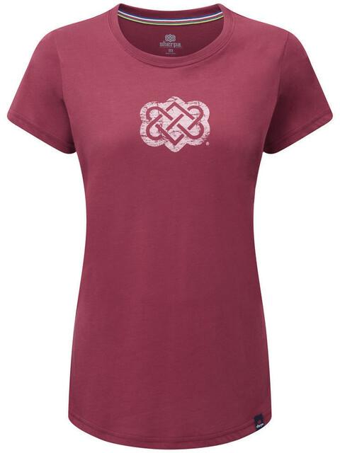 Sherpa Endless Knot - Camiseta manga corta Mujer - rojo